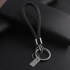 New Fashion Men Leather Key Chain Ring Keyfob Car Keyring Keychain Gift