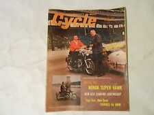 AUGUST 1964 CYCLE MAGAZINE,A.J. FOYT INDY COVER, HONDA SUPER HAWK,BSA STARFIRE,