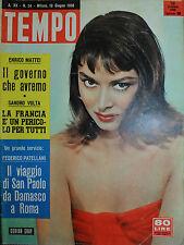 TEMPO N° 24/ 10.GIU.1958 - DORIAN GRAY - LA FRANCIA E' UN PERICOLO PER TUTTI