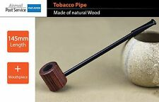 Natural Wood Wooden bowl Smoking Tobacco Pipe Pipes mouthpiece small long