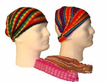Assorted Mix Two Artisan Made Cotton Headband Hair Cover Pack Fair Trade Set NWT
