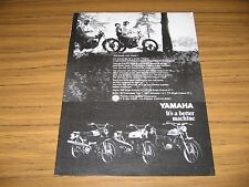 1969 Print Ad Yamaha 250 & 125 Single Enduro Motorcycles 80 & 100 Trailmaster