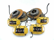 PORSCHE 911 CARRERA 4 C4 AWD BREMBO BRAKE YELLOW CALIPERS ROTORS FACTORY -554