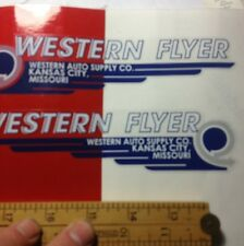 Western Flyer decal Set Doodlebug scooters and others Westrn Auto Supply Kansas