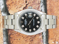 Bargain Gents Black Diamond Dial Rolex Oyster Perpetual Date.