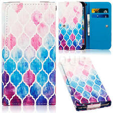 Newest Pattern Universal Folio Leather Wallet Card Case Cover For Mobile Phones
