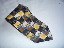 KR1295 Monti Krawatte 100% Seide Schwarz Gelb Blau Beige Braun Grün Rot Blumen 1