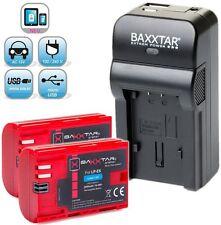 Baxxtar ® RAZER 5in1 Ladegerät + 2x Baxxtar Akku für Canon LP-E6 (echte 2000mAh)