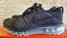 Nike Women's Flyknit Max Running Black Dark Grey Oreo 620659 010 Size 8.5