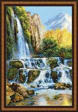 "Counted Cross Stitch Kit RIOLIS - ""Landscape with Waterfall"""
