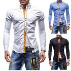 New Stylish Mens Slim Fit Casual Shirt Button Down 100% Cotton M L XL XXL PS09