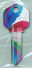 COLORED FEATHERS PRINT KEY BLANKS KW-1