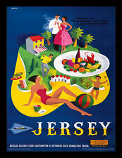 Jersey From Southampton & Weymouth - Framed 30 x 40 Official Print
