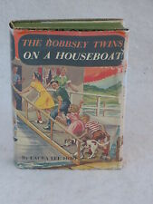 Laura Lee Hope  THE BOBBSEY TWINS ON A HOUSEBOAT ill. Grosset & Dunlap  HC/DJ