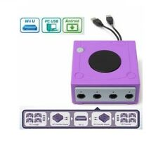 Controller Adapter Converter GameCube Nintendo Wii U 4 Gamepads Purple Accessory