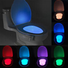 Body Automatic LED Motion Sensor Night Lamp Toilet Bowl Bathroom Light