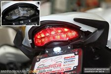 2014-2016 Ducati Monster 821 1200 SEQUENTIAL Signal LED Tail Light Smoke Lens