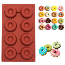 8 Cavity Silicone Donut Muffin Chocolate Cake Candy Cookie Baking Mold Mould Pan