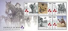 Australia Stamp, 2015 AUS1533S War Animals S/S, Horse, Bird, Dog, Camel