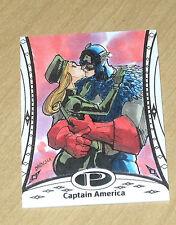 2014 Upper Deck UD Marvel Premier sketch card Babisu Kourtis CAPTAIN AMERICA #6