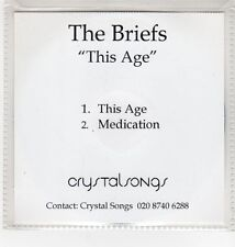 (GI868) The Briefs, This Age - DJ CD