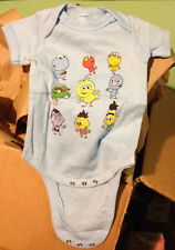 SESAME STREET Cookie, Elmo, Grouch, etc... Snapsuit Baby Onesie Romper 6M or 18M