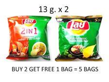 Lay Lays Thailand Potato Chips Crispy Snack Food Por Flavors 13g X 2