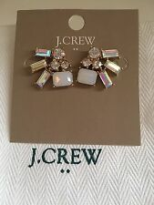 J.Crew 100%Authentic IRIDESCENT CRYSTAL CLUSTER EARRINGS & Dust bag