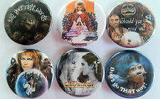 Labyrinth Movie Badge Button Pin Party Favors Stocking Stuffers set of 6