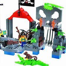 Pirate Skeleton Island Castle c/w Figures Gun Compatible Building Bricks 206 Pcs