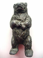 VINTAGE CAST METAL BEAR MONEY BOX FROM 1946