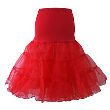 "Red White Black 26"" Petticoat Underskirt Prom Party Swing Rockabilly Dress Fancy"