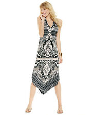 INC International Concepts Printed Asymmetrical-Hem Dress, PET/SM