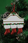 PERSONALISED CHRISTMAS TREE DECORATION ORNAMENT WHITE MENTLE FAMILY 3