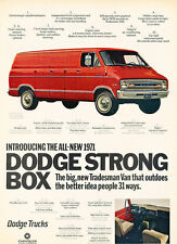 1971 Dodge Cargo Van Tradesman  Vintage Advertisement Car Print Ad J497