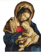 CROSS STITCH KIT -  MADONNA AND CHILD  25CM X31CM