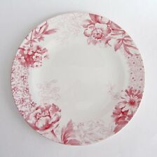 "Villeroy and Boch Mettlach Floreana Red SALAD PLATE 8 1/2"" Germany Set-4 NEW"