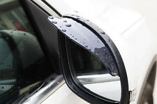 2x Black Rear View Side Mirror Rain Board Sun Visor Shade Shield For Car Truck