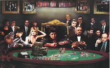 "Gangster Poker Canvas Print  A1 30"" x 20"""