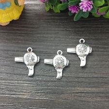 3D Hair-dryer charms Antique tibetan silver charms Pendants fit bracelet 5pcs &J