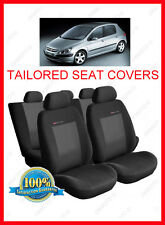 Tailored seat covers for Peugeot 307  Full set grey3