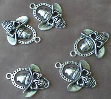 5 Cowboy Hat Skull Horseshoe Charms for Jewelry Making