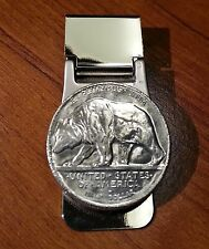 1925 California State Emblem Walking Grizzly Bear Half Dollar Coin Money Clip!