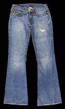 True Religion RAINBOW JOEY Jeans Boot Cut Flare Distressed Twist 28 X 32 EEUC cs