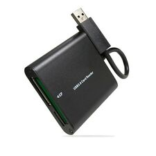 Black Aluminum USB 3.0/USB 2.0 Card Reader  for CF/TF/Micro SD/SD/MD/MMC/SDHC/
