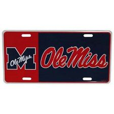 Ole Miss Rebels Block Style License Plate