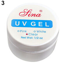 UV Gel Nail Kit Top Coat Primer Cleanser Nail Builder Clear White Pink Makeup