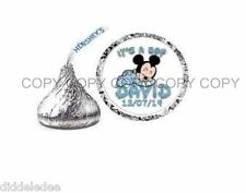 Baby Boy Mickey Mouse Baby Shower Hershey Kiss Label Sticker Favors Personalize