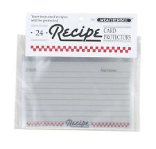 "Recipe Card Protectors(Covers) 3""x 5""by Weatherbee Protect Your Cards Set of 24"