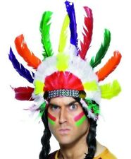 Indian Chief Fancy Dress Feather Head Dress Sitting Bull New Smiffys